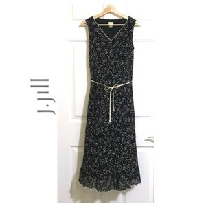 J.JILL Sleeveless Long Dress With Tie Belt DRESSES